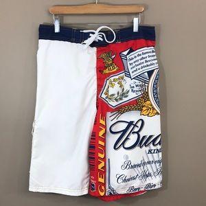 BUDWEISER Board Shorts Size Large